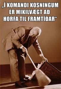 Ég birti þessa mynd á síðunni minni fyrir síðustu kosningar vegna þess að allir gerðu grín að Sjálfstæðismönnum fyrir að vilja ekki tala um fortíðina. Það reyndist smitandi.